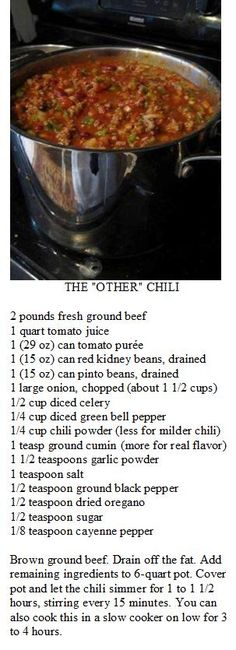Wendy's Chili (Frosty Recipe Healthy)