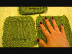 ▶ How To Knit A Gauge Swatch - YouTube.  This video should be very helpful to the new knitter.   Love the purling on the swatch to indicate the needle size used..