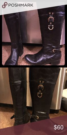 Unisa boots with gold buckles Nice slightly worn Unisa knee high boot Unisa Shoes Heeled Boots