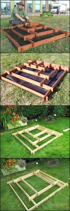 How To Make A Slot Together Pyramid Planter theownerbuilderne. Pyramid planters are great for growing various plants especially if you don't have a lot of space in your garden or (Diy Garden Planters) Diy Garden, Garden Planters, Garden Landscaping, Garden Pallet, Recycled Planters, Garden Boxes, Landscaping Ideas, Recycled Pallets, Outdoor Planters