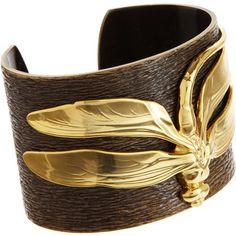 I A M by ILEANA MAKRI Bronze Dragonfly Cuff ($500) ❤ liked on Polyvore