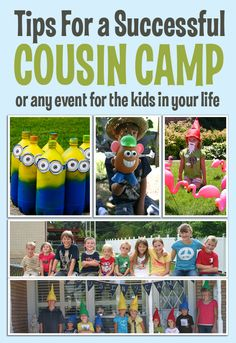 Complete Cousin Camp ideas: themes, games, snacks, printables.