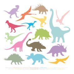 dinosaur sillhouettes. Siluetas para imprimir