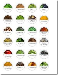 Free Printabel Spice Labels