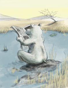 Reading Hippo by Gregory Mirzayantz, via Behance