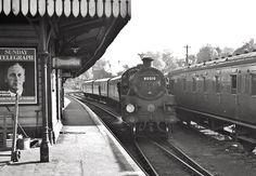 BR engine marshalling empty stock at Tunbridge Wells West Station in October Photo by Des Summerson. Camden Road, Tunbridge Wells, British Rail, Empty, Trains, Arch, Engineering, Rocks, October