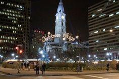 Philadelphia's Christmas Village at Love Park (Photo by M. Fischetti for GPTMC)