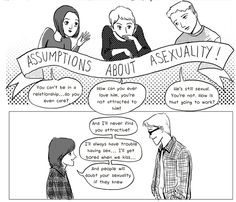 A comic that debunks myths about asexuality.