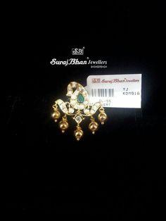 Small cz pendant Emerald Jewelry, Diamond Jewelry, Gold Jewelry, Beaded Jewelry, India Jewelry, Pendant Jewelry, Gold Pendent, Pendant Set, Diamond Pendant