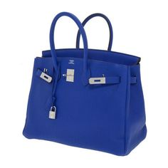 Hermes 35cm Electric Blue Togo Leather Birkin Bag with  Palladium Hardware. $12,000.00  ..... Man I've got EXPENSIVE taste!!