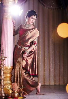 Indian Jewellery and Clothing: Elegant bridal Kanjeevaram sarees from Sri Palam Silks