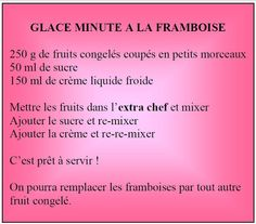 Ma Cuisine en Tupperware - Yaël: GLACE MINUTE A LA FRAMBOISE