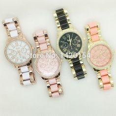 GENEVA Classic Beautiful Multi-color Metal Ladies Bracelet Rhinestone Watches  - http://www.aliexpress.com/item/GENEVA-Classic-Beautiful-Multi-color-Metal-Ladies-Bracelet-Rhinestone-Watches/32401239402.html
