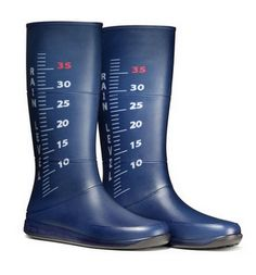 Rain boots that indicate the height of the puddle you're in!