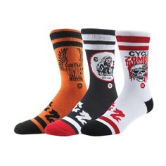 The Giant Peach - Stance - Cycle Zombies Premium Men's Socks, Multicolored, $14.00 (http://www.thegiantpeach.com/stance-cycle-zombies-premium-mens-socks-multicolored/)