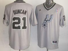 bc31219d8 NBA San Antonio Spurs  21 Tim Duncan Gray Grey Jersey