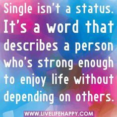 Single isn't a status...
