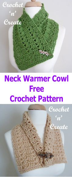 Add style to any outfit with this neck warmer cowl, make this Winter accessory with just one ball of yarn, crocheted on a large hook it works up really quick, I have added a brooch, but you could replace with a button if you wish. It can be made for gifts or your own personal …
