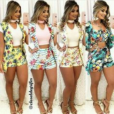 Pin by Dmagen Magem on conjunto dmargem in 2019 Sexy Outfits, Cute Summer Outfits, Short Outfits, Cute Outfits, Fashion Outfits, Style Casual, My Style, Diy Shorts, Teen Fashion