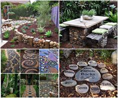 15 Easy Diy Outdoor Projects To Make Your Backyard Awesome: Easy DIY Garden Projects With Stones Diy Garden Projects, Outdoor Projects, Outdoor Decor, Garden Ideas, Outdoor Stuff, Outdoor Ideas, Patio Slabs, Landscape Structure, Back Gardens
