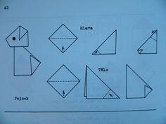pes Bar Chart, Origami, Triangle, Peta, Dog, Paper Crafts, Paper Envelopes, Diy Dog, Bar Graphs