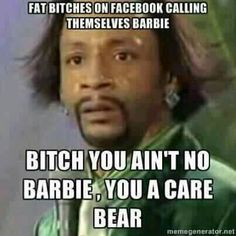 Katt Williams - you're a care bear LOL Funny As Hell, You Funny, Funny Cute, Funny Stuff, Freaking Hilarious, Funny Sarcastic, Crazy Funny, Awesome Stuff, Humor