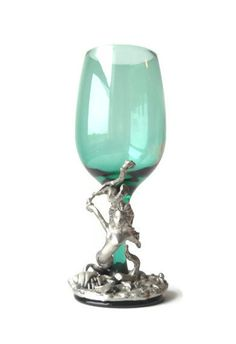Mermaid Wine Glass  Pewter Mermaid by MomsantiquesNthings on Etsy, $80.00