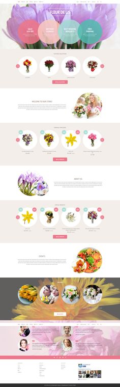 Flower Store Shopify Theme #wedding #gifts http://www.templatemonster.com/free-shopify-theme-flower-shop.html?utm_source=pinterest&utm_medium=timeline&utm_campaign=freefleur