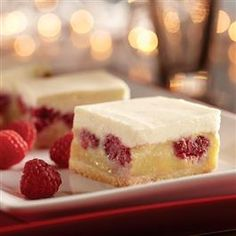 Raspberry Custard Bars