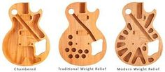 Gibson Les Paul weight relief styles
