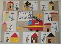 Den hasičů - 4. 5. 2017 Kindergarten Activities, Den, Calendar, Playing Cards, Kids Rugs, Holiday Decor, Gifts, Pre K, Presents