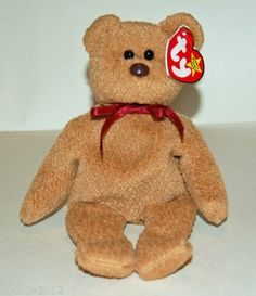 Ty Beanie Baby Curly Bear Beanie Bears 3023e18e1e71