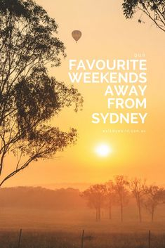 If you're looking for that perfect city escape check out our favourite weekends away from Sydney.
