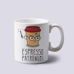 Amazon.com | Espresso Patronum Harry Potter Funny Cartoon Mug Cup Two Sides 11 Oz Ceramics: Coffee Cups & Mugs