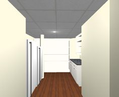 3D Design Proposal for a custom pantry in a basement remodel in Bedford, MA