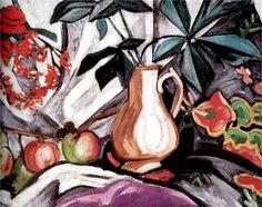 Ольга Розанова «Натюрморт с кувшином и яблоками» 1912-1913 г. Холст, масло. 54 х 73 см  Витебский Музей современного искусства, Белоруссия
