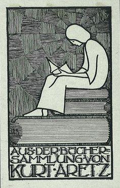 [Ex libris Kurt Aretz] by Stifts- och landsbiblioteket i Skara, via Flickr