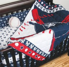 New York Yankees Combo 4 Piece Crib Set and Matching Window Valance includes (Comforter, Dust Ruffle, 2 Fitted Sheets and Matching Window Valance) - 4 Piece Crib Set fits a standard size crib - Decorate Your Nursery and Save Big By Bundling! by Sports Coverage, http://www.amazon.com/dp/B00BD7CST0/ref=cm_sw_r_pi_dp_CMdFrb0G4XMA0