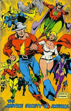 Justice Society of America, pin up, Joe Staton, 1970s, Adventure Comics