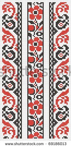 Desen Cross Stitch Borders, Cross Stitch Patterns, Loom Beading, Beading Patterns, Palestinian Embroidery, Brick Patterns, Chart Design, Fair Isle Knitting, Bead Weaving
