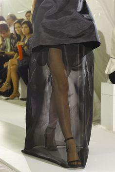 Love love love the sheer skirt: Maison Martin Margiela Paris Spring 2013