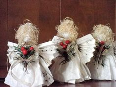 Angel Christmas Tree Ornament Set of 3 by AngelsNEverlastings, $20.00