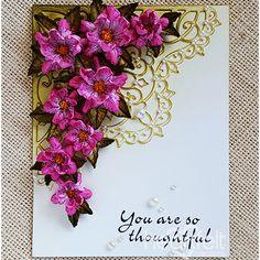 Heartfelt Creations - Blossoming Corner Card Project