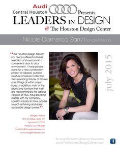 Nicole Domercq Zarr of Triangle Interiors | July 2015 Leader In Design