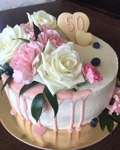 #50 #urodziny #róże #torty #tortyurodzinowe #birthdaycake #slodkoscipysznosci #nakażdąokazję