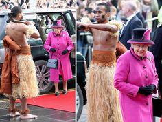 Queen Elizabeth Likey Likey Topless Dudes (PHOTOS)
