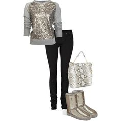 I love this ugg boot outfit