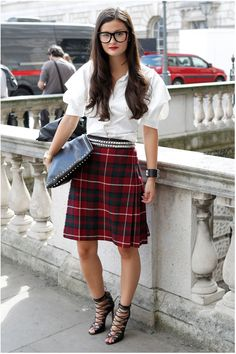 #LFW day 3: Everyone's wearing tartan. Kinda like this. Esp the shoes :)