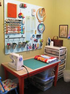 Small Sewing area in the corner of a Room