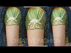 beautiful Party wear sleeves design. - YouTube Pattu Saree Blouse Designs, Designer Blouse Patterns, Fancy Blouse Designs, Blouse Neck Designs, Dress Designs, Sleeves Designs For Dresses, Sleeve Designs, Stylish Blouse Design, Kurti Designs Party Wear